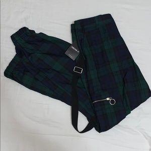 Plaid Zip Pocket Joggers